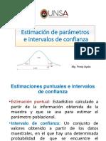 Diapos Estimación de Parámetros Intervalos de Confianza (1)