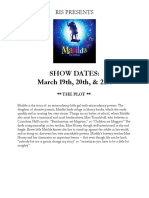 matilda audition packet