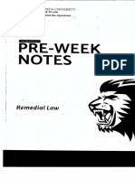 San Beda Pre Week Remedial Law 2019