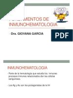 Fundamentos de Inmunohematologia aplicados al area de transfusion