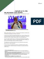 Lanzarán Libro Inspirado en La Vida Del Periodista Juan Gossain