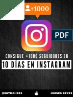 1000 Seguidores en Instagram en 10 Dias