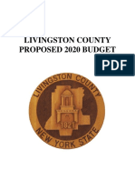 Livingston County, NY, proposed 2020 budget