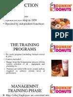 Dunkin Donuts Case