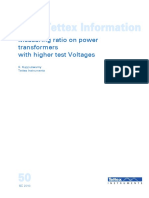 Measuring Turns Ratio at Higher Test Voltages 0810 SG-4