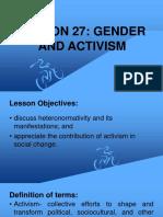 Gender and Activism