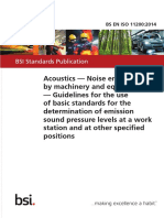 [BS en ISO 11200_2014] -- Acoustics. Noise Emitted by Machinery and Equipment. Guidelines for the Use of Basic Standards for the Determination of Emission Sound Pressure Levels