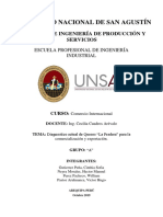 Comercio Internacional Quesos Informe General