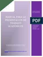 Manual Para La Presentacion de Trabajos