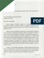 Nota de Pablo Farías Al Equipo de Transición de Perotti