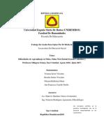 Monografico Sobre Las Dificultades de Aprendizajes Pasado Por Plagio