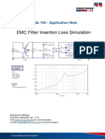 App Note EMC Filter Insertion Loss Simulation V1