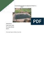 Situación Actual Del Abastecimiento de Agua en El Campus de La UNALM