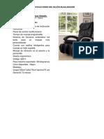 especificaciones sillon