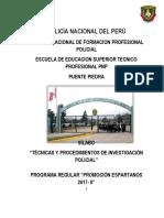 Silabo de Tecnicas de Inv. Espartanos - 2019
