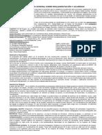 Informacion General Sobre Reglamentación y Acuerdos