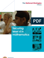 Securing Level 4 in Maths