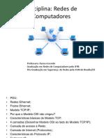 PDU e MODELO TCPIP