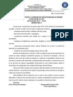 Raport Comisie CES