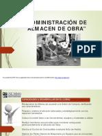 Administración de Almacen de Obra Modulo 2