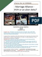 Marriage Aliance United to IHVH or an Alien Deity
