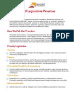 Tier 1 Bills - Advocacy Needs