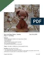 Crochet paterrn labradore