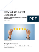s+b - How to build a great experience