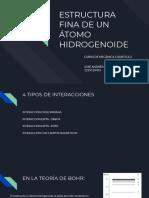Estructura Fina de Un Átomo Hidrogenoide