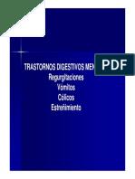 Trastornos digestivos menores semiología