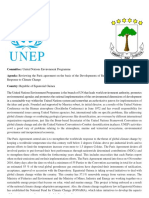UNEP position paper for MUN