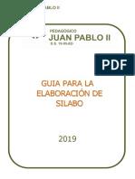 Guia Para Elaborar El Silabo Juan Pablo II