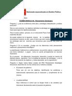 EXAMEN MODULO 08 - Planeamiento Estrategico