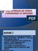 niveaux des stocks