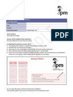 Sample Paper for Preparing MCQs Project Management