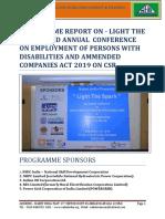 Programme Report Light the Spark