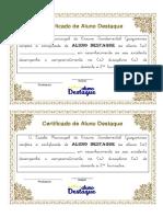 Certificado Aluno