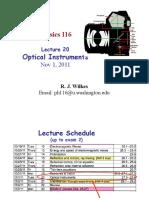 Physics116 L20 Instruments