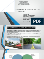 Sustainable Roads in Metro Manila