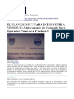 El Plan de Eeuu 2dapara Intervenir a Venezuela Documento de Comando Sur Operacion Venezuela Freedom-2