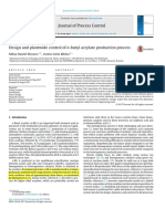 Design and plantwide control of n-butyl acrylate production process