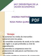 Las Ventajas y Desventajas de La Integración Económica