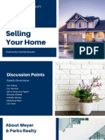 Blue Home Search Pitch Deck Presentation