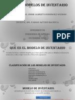 Tipos de Modelos de Inventario