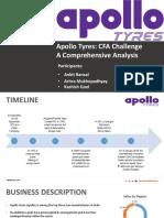 Apollo Tyres CFA challenge PPT