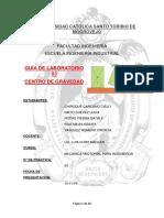Informe 3. Mecánica Vectorial. Centro de Gravedad