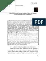 ARISTÓTELES POSTO À PROVA DE PLATÃO OU O CASO MIMESIS