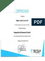 Certificado Tecsup Sistemas