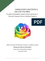 La Categorización Lingüística de Los Colores - Benjamín Marcelo Bermúdez