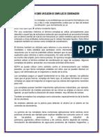 COMPLEJOS DE COORDINACIÓN